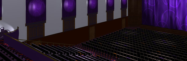 Artist's impression of the auditorium