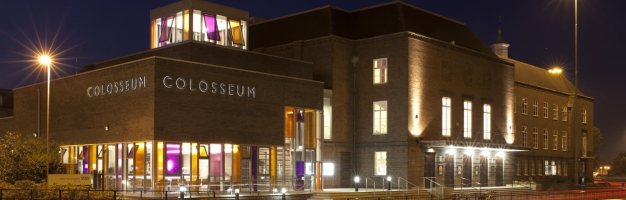 Watford Colosseum at night