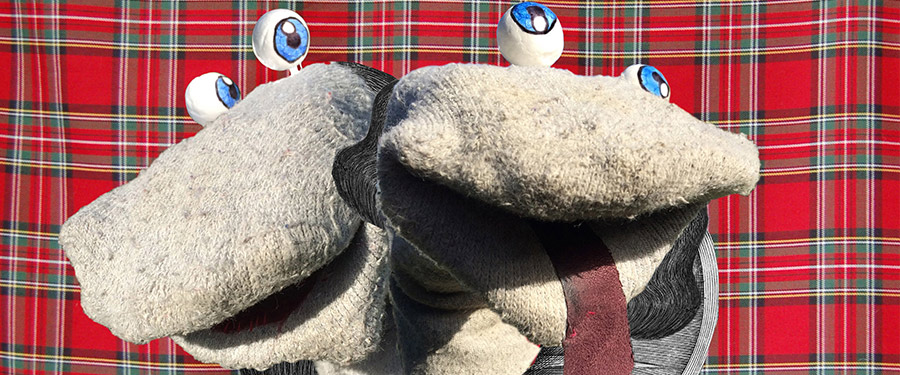 Scottish Falsetto Sock Puppets